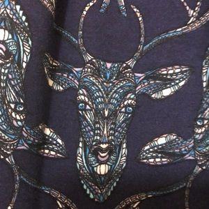 LulaRoe Madison skirt deer mosaic.